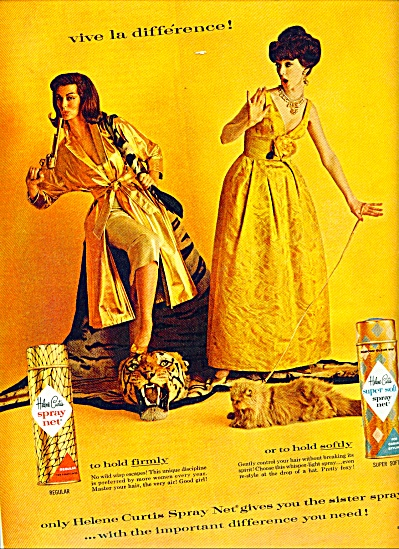 1961 Helene Curtis Spray NET AD Models in Gold (Image1)