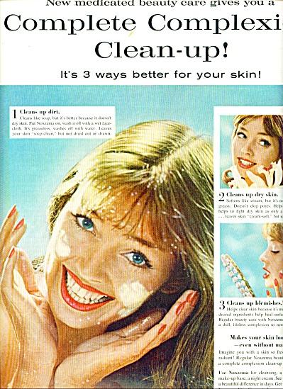 1961 Noxzema DOLORES HAWKINS CREAM AD (Image1)
