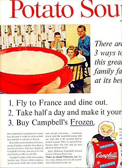 Campbell's frozen Cream of Potato soup ad (Image1)