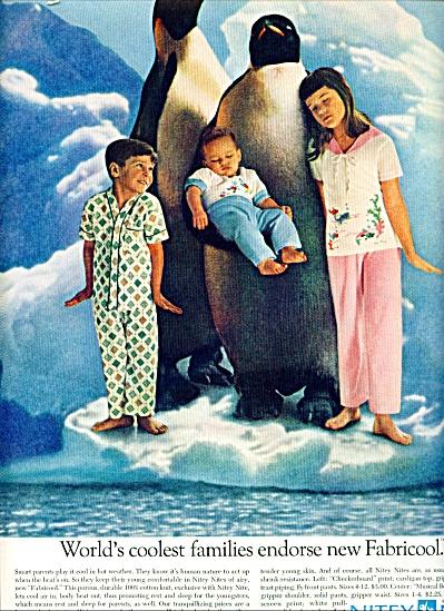 1961 NITEY NITE Fabricool Kids in Pajamas AD (Image1)