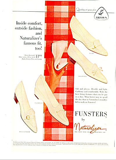 Funsters by Naturalizer - shoes ad 1961 (Image1)