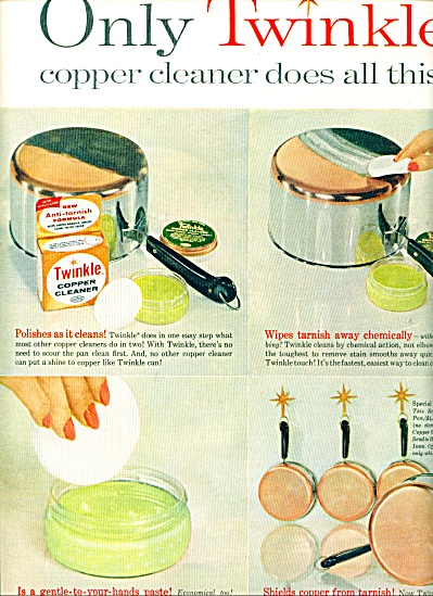 Twinkle Copper Cleaner Ad 1961