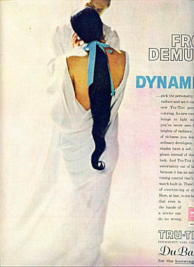 1962 DuBarry TRU-TINT Hair COLOR AD DEMURE (Image1)