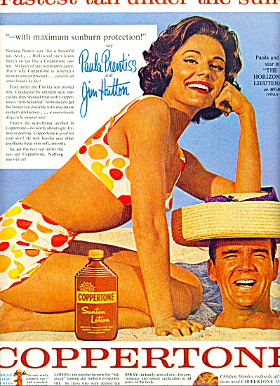 Coppertone PAULA PRENTISS- JIM HUTTON (Image1)