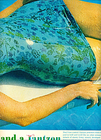 Jantzen powrnet slinks bathing suits ad 1962 (Image1)