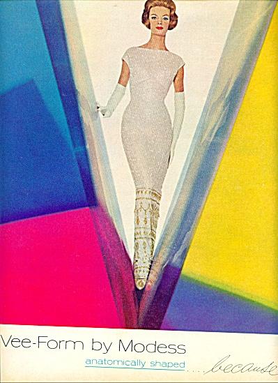 1962 Modess AD Nena Von Schlebrugge FASHION Model (Image1)