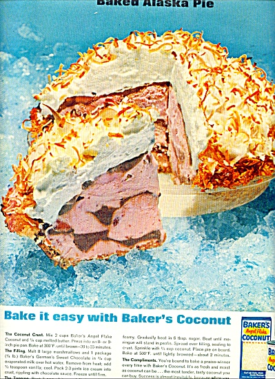 Baker's angel flake coconut ad 1962 (Image1)