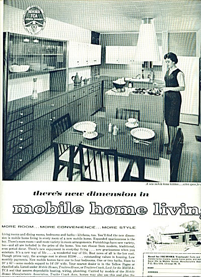 Mobile home living ad 1962 (Image1)