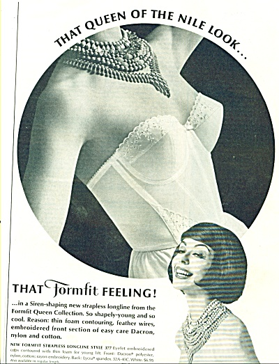 1962 Formfit Queen Of The Nile Bra Ad
