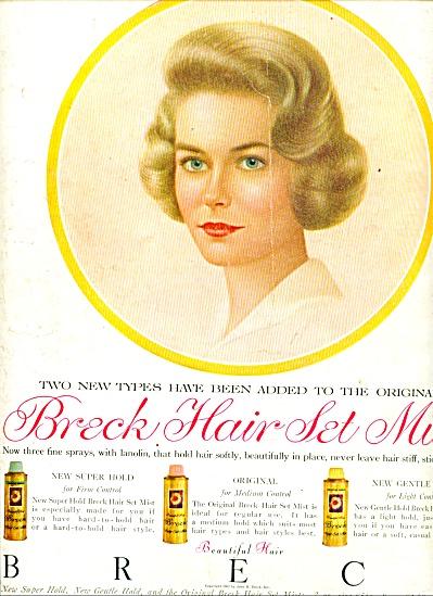 Breck Hair set mist ad 1962 (Image1)