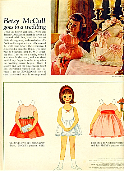 Betsy McCall goes to a wedding - 1962 (Image1)