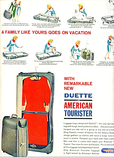 American Tourister luggage - Duette ad 1962 (Image1)