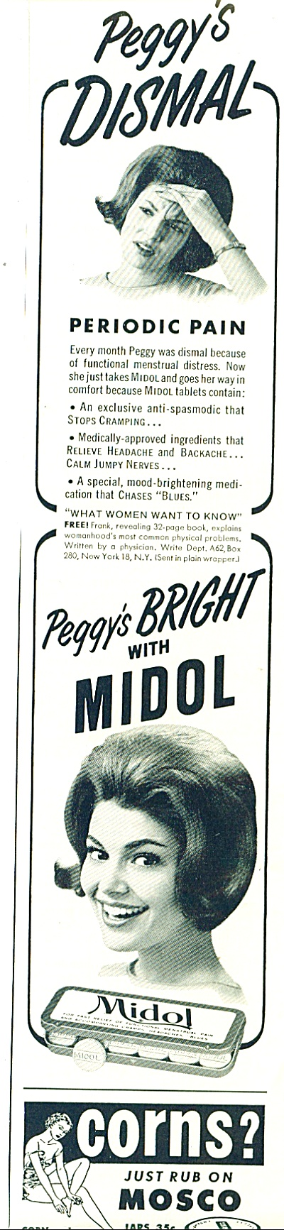 Midol pain medication ad 1962 (Image1)