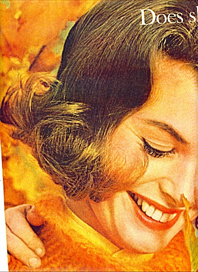 1963 Miss Clairol AD DOES SHE..OR DOESN'T SHE MODEL (Image1)
