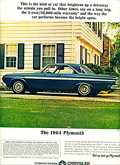 Plymouth CAR automobile 1964 ad (Image1)