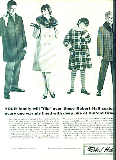 1963 Robert Hall Clothing Coat AD (Image1)