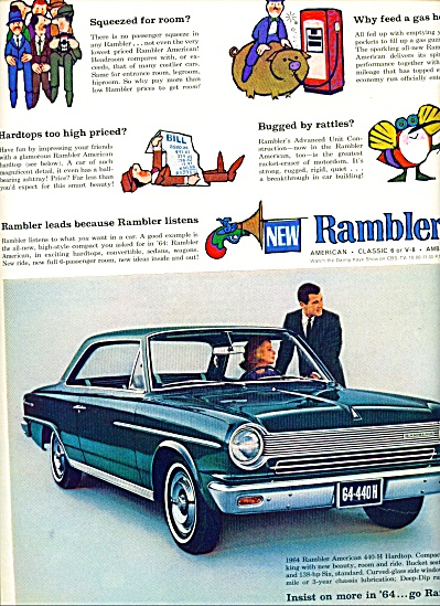 1964 Rambler CAR Promo AD American 440 HARD TOP (Image1)