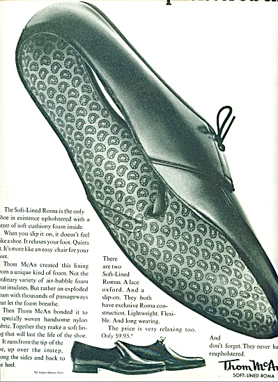 Thom McAn soft lined roma shoes ad 1963 (Image1)