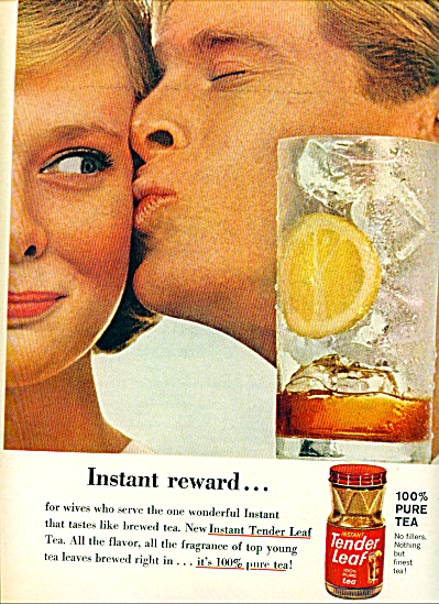 1963 TENDER Leaf Tea WENDY HILL Model AD (Image1)