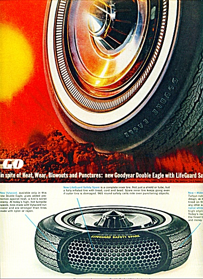 Goodyear Automobile Tires Ad 1963