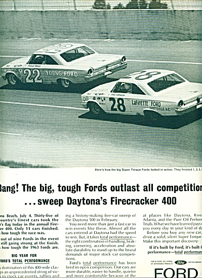 1963 Ford Racing CARS DAYTONA FIRECRACKER (Image1)