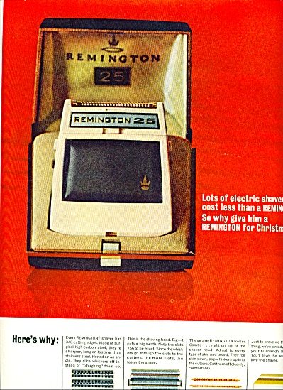 Remington Electric Shaver Ad 1963