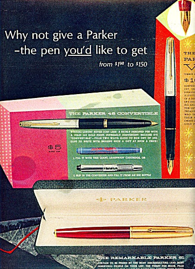 Parker desk sets - pens ad 1963 (Image1)