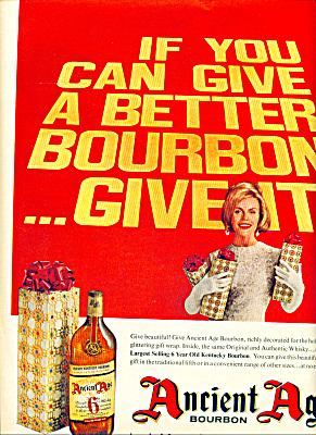 Ancient Age Bourbon Kentucky - Ad 1963