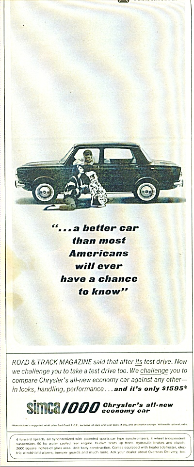 Simca 1000 automobile ad 1963 (Image1)
