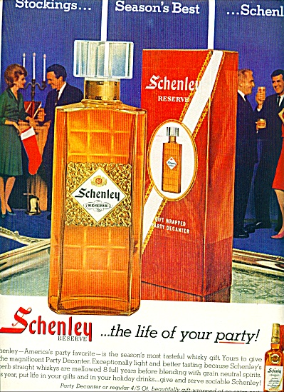 1963 Schenley RESERVE Whiskey AD LIFE PARTY (Image1)