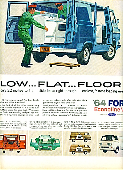 Ford Econoline Van For 1964 Ad