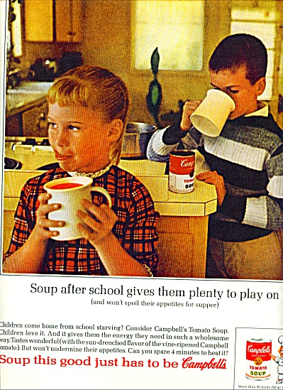 Campbell's Tomato soup ad 1963 (Image1)