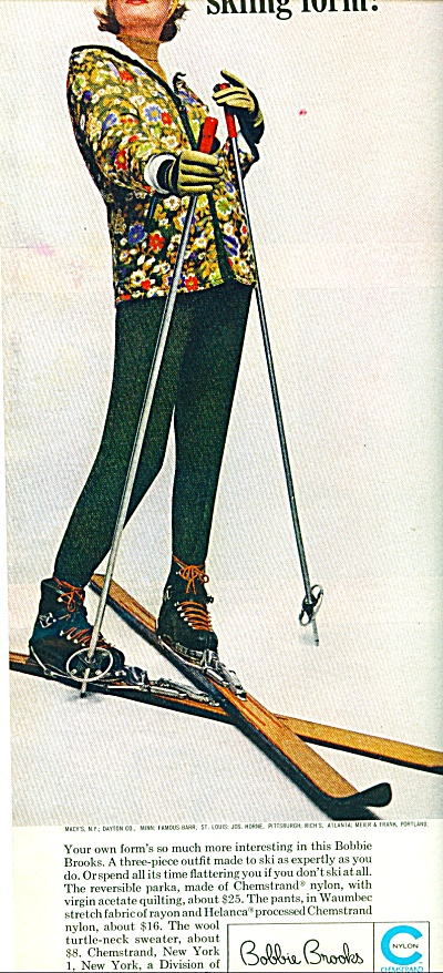 1963 Bobbie Brooks clothes ad SKIING Outfit (Image1)