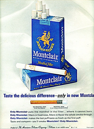 MONTCLAIR CIGARETTES  AD  1963 (Image1)