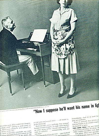 1963 The Lowrey Organ ad Frustrated Wife (Image1)
