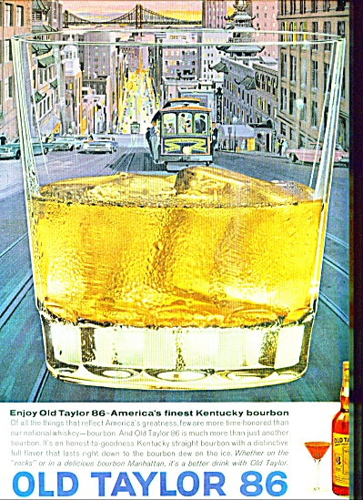 1963 Old Taylor Bourbon AD SAN FRANCISCO ART (Image1)