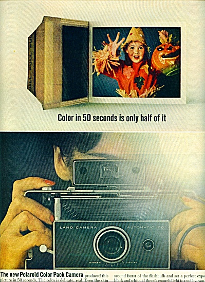Polaroid color pack camera ad 1963 (Image1)