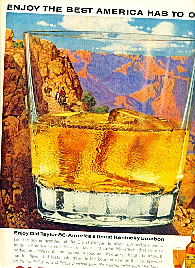 1963 Old Taylor  Kentucky AD Grand Canyon ART (Image1)