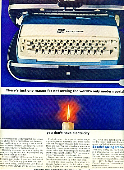 Smith Corona typewriter ad 1963 (Image1)