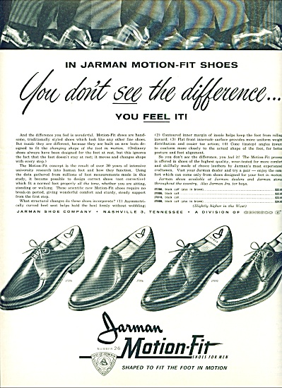 1963 Jarman Motion fit Shoes AD (Image1)