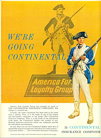 The Continental Insurance companies ad 1963 AMERICA FOR (Image1)