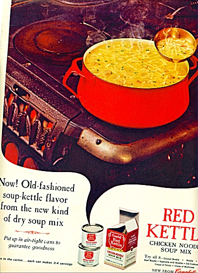 Red Kettle Chicken Noodle Soup Mix -campbells