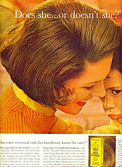 1963 Miss Clairol AD DOES SHE..OR DOESN'T SHE LOVE (Image1)