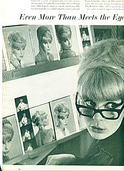 ELKE SOMMER  - Hollywood starlet ad 1963 (Image1)