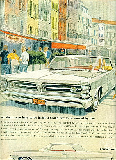 Pontiac Grand Prix automobile ad  - 1963 (Image1)