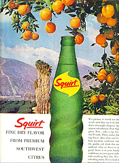 1963 Squirt fine dry flavor SODA AD Bottle (Image1)