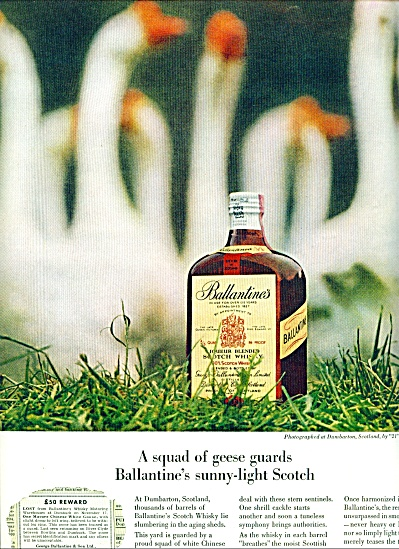 Ballantine's sunny light scotch ad 1963 (Image1)