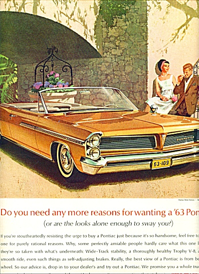 Pontiac Wide track for 1963 ad (Image1)