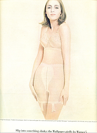 1963 WARNER's WALLPAPER BRA  GIRDLE AD (Image1)