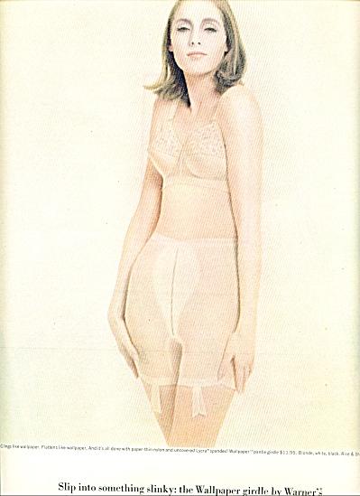 1963 WARNER's WALLPAPER BRA  GIRDLE AD (Image1)